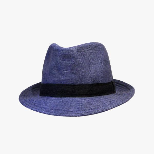 Cappello modello fedora in lino, produzione Tesi ...
